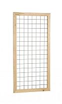 Eco gaastrellis met maas 7,5 x 7,5 cm, in grenen raamwerk 4,5 x 4,5 cm, 90 x 180 cm, groen geïmpregn