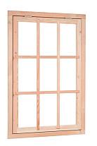 Douglas Uitzetraam 9-ruits 91 x 136 cm.  Woodvision