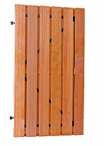 Hardhouten Plankendeur 100x180 cm zwart stalen frame
