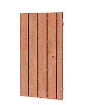 Douglas fijnbezaagde plankendeur op verstelbaar stalen frame, 19 mm, 100 x 190 cm, onbehandeld.