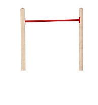 Duikelstang metaal 125 cm, rood.