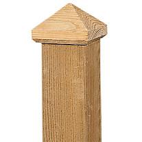 Paalornament piramide hout