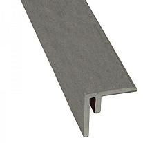 Composiet hoekprofiel/plint 4 x 4 x 300 cm, grijs.