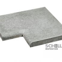 Schellevis zwembadrand hoekstuk 100x100 cm grijs