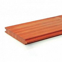 Hardhouten Azobe Damwandprofiel geschaafd 3x20 cm. Woodvision