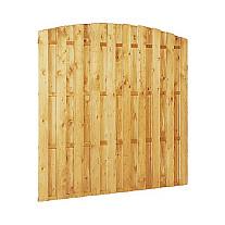 Grenen Tuinschutting toog RVS 180x180 cm. 15 planks