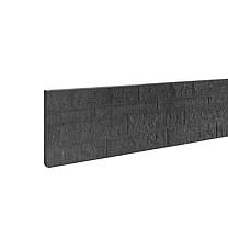 Betonplaat dubbelzijdig rotsmotief 36 x 3,5 x 184 cm antraciet ongecoat