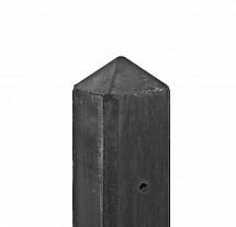 Betonpaal met diamantkop t.b.v. betonplaten met motief 10 x 10 x 280 cm, antraciet gecoat hoekpaal.