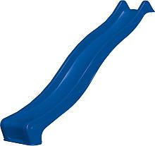 Kunststof glijbaan 290 x 50 cm, 150 cm hoog, blauw.