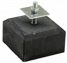 Betontegel / betonpoer 18x18x10 cm, recht, flexibele stelplaat, M20, antraciet.