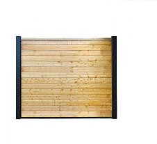 Betowood scherm vuren inclusief afdekkap 187 x 224 cm, groen geïmpregneerd.