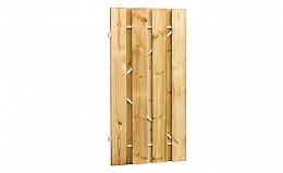 Grenen fijnbezaagde plankendeur op verstelbaar stalen frame 100 x 200 cm, recht, groen geïmpregneerd