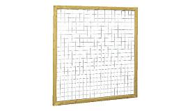 Douglas Betonijzertrellis met maas in raamwerk blank Woodvision