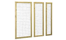 Betonijzer trellis met houten frame 180 cm. Woodvision