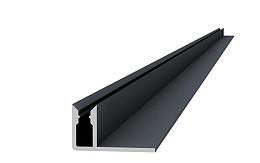 Aluminium onderprofiel 4,0 x 2,2 x 300 cm.