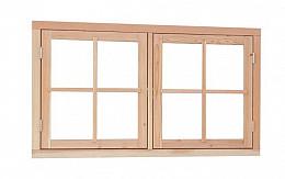Douglas Dubbel uitzetraam 140 x 81 cm. Woodvision
