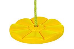 Schotelschommel kunststof, geel.