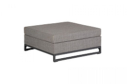 Rhodos Lounge Hocker Ash Grey Nanotex Exotan