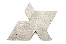 Concrete Cityscapes 60x48x6 Grijs