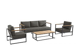 Montigo Loungeset Matt Carbon Teak Taste 4SO