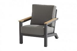 Capitol lounge stoel, teak armleuningen incl. 2 kussens