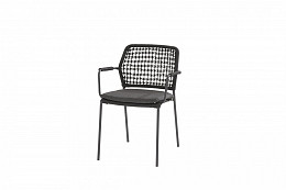 Barista Stapelbare stoel Antraciet incl. kussen/ afname per 2 st.