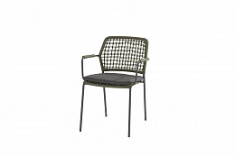 Barista Stapelbare stoel Groen incl. kussen/ afname per 6 st.