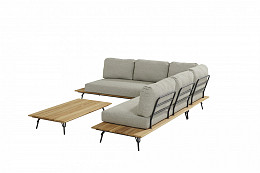 Cucina hoek loungeset met koffietafel 120x70 cm