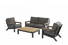 Capitol living loungeset met teak koffietafel 125x75 cm