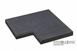 Schellevis zwembadrand hoekstuk 100x100 cm carbon