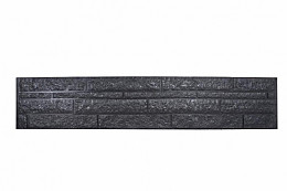 Betonplaat dubbelzijdig rotsmotief 36 x 3,5 x 184 cm, antraciet gecoat.