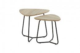 Axel koffietafel driehoek 45 cm (H 45 cm) teak tafelblad