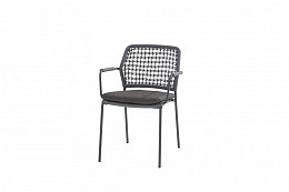 Barista Stapelbare stoel Blauw incl. kussen/ afname per 2 st
