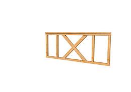 Douglas hekwerk type A met kruis 178,5 x 73 cm onbehandeld