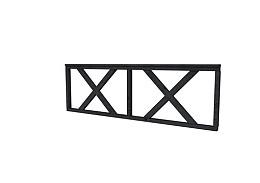 Douglas hekwerk type B met kruis 228,5 x 73 cm zwart geïmpregneerd