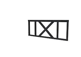Douglas hekwerk type A met kruis 178,5 x 73 cm  zwart geïmpregneerd