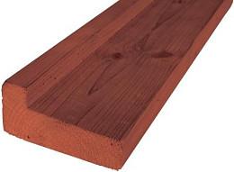 Hardhouten fundamentbalk 4,5 x 9,0 x 300 cm.