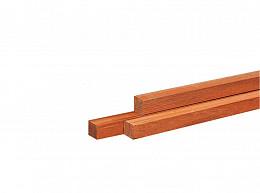 Hardhouten Azobe Piket Paal fijnbezaagd 4x4 cm. Woodvision