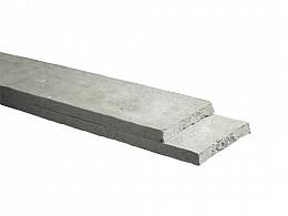 Betonplaat stampbeton 25 x 3,5 x 184 cm, grijs.