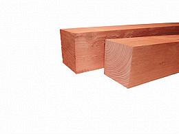 Douglas Palen fijnbezaagd onbehandeld 10x10 cm. Woodvision