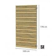 Flux deur Excellent op verstelbaar stalen frame 100 x 180 cm.